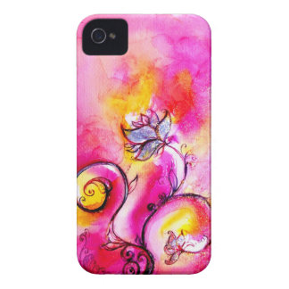 WHIMSICAL FLOWERS  pink yellow purple iPhone 4 Cases