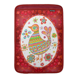 Whimsical Folk Art Bird Macbook Air Sleeve