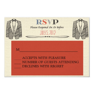 Whimsical Font Gay Wedding RSVP 9 Cm X 13 Cm Invitation Card