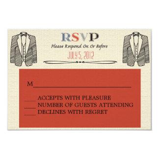 Whimsical Font Gay Wedding RSVP 9 Cm X 13 Cm Invitation Card