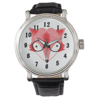 Whimsical Fox Image Design Watch