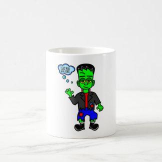 Whimsical Frankenstein's Monster Boy Basic White Mug