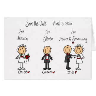 Whimsical Fun Save the Date! Card