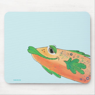 Whimsical Funky Fish Painting Mouse Mat