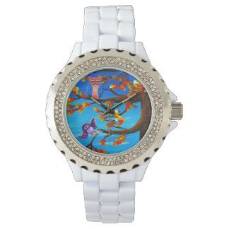 Whimsical Funny Forest Owls Creationarts Watch