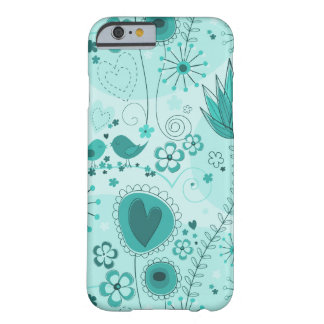 Whimsical Garden in Turquoise iPhone 6 case Barely There iPhone 6 Case