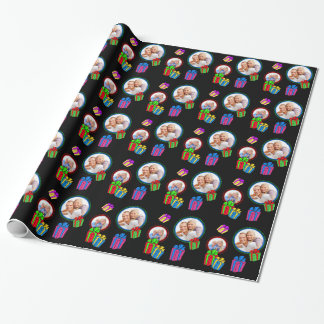 Whimsical Gift Packages with Photos Wrapping Paper