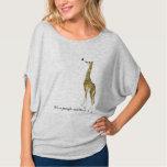 Whimsical Giraffe Butterfly T-shirts