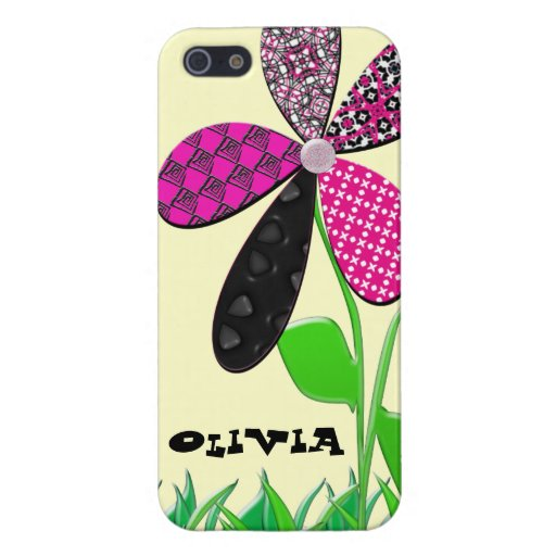Whimsical Girly Flower Iphone5 case iPhone 5 Cases