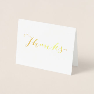 Whimsical Gold Foil Thank You Card
