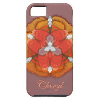 Whimsical Golden Tropical Orchid Floral Print iPhone 5 Case