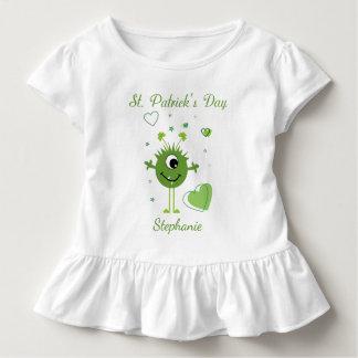 Whimsical Green Alien Monster St. Patrick's Day Toddler T-Shirt