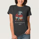 Whimsical Grumpy Owl Funny T-shirt