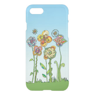 Whimsical, hand drawn flowers iPhone 8/7 case