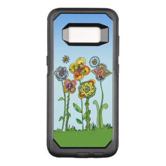 Whimsical, hand drawn flowers OtterBox commuter samsung galaxy s8 case