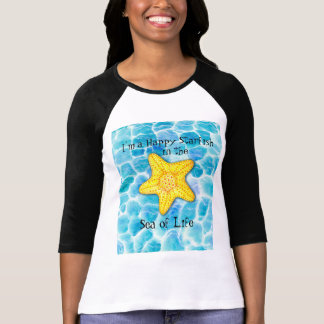 "Whimsical Happy Starfish on Ocean ""Sea of Life"" T-Shirt"