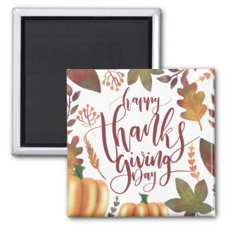 Whimsical Happy Thanksgiving Day | Magnet