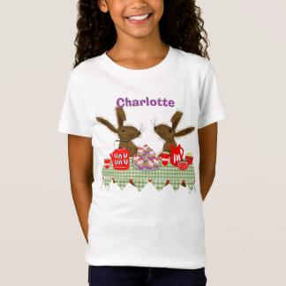 Whimsical Hares Tea Party Personalized T-Shirt