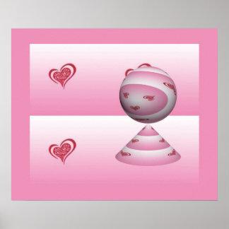 Whimsical Heart #4 Print