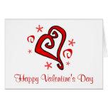Whimsical Hearts Greeting Card