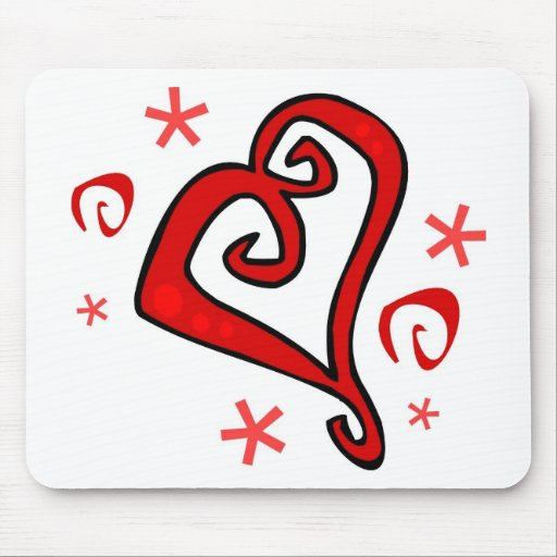 Whimsical Hearts Mouse Pad