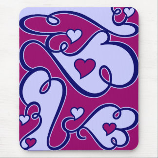Whimsical Hearts mousepad