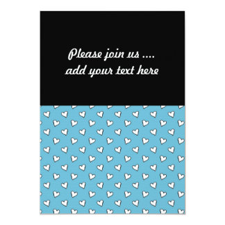 Whimsical Hearts on Blue Background 13 Cm X 18 Cm Invitation Card