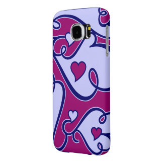 Whimsical Hearts phone cases