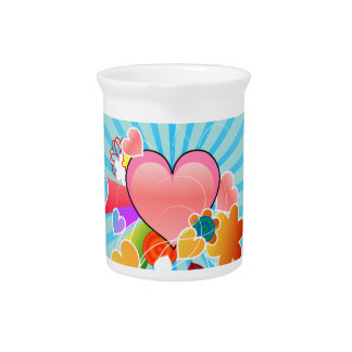 Whimsical Hearts Beverage Pitchers