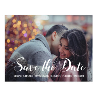 Whimsical Hearts   Save The Date Postcard