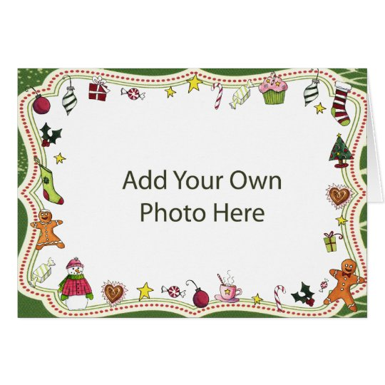 Whimsical Holiday Photo Frame Card