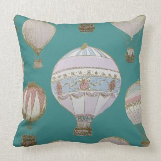 Whimsical Hot Air Balloon - Majestic Green
