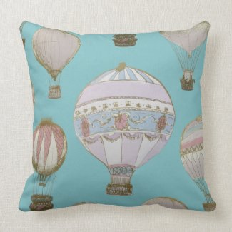 Whimsical Hot Air Balloon - Royal Blue