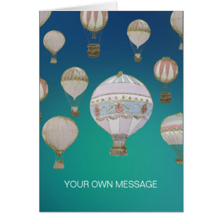 Whimsical Hot Air Balloons Card