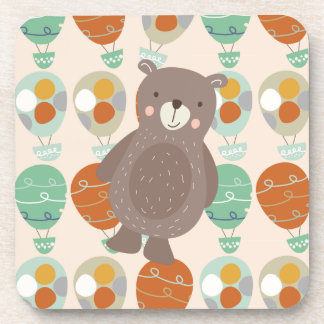 Whimsical Hot Air Balloons Drink Coasters