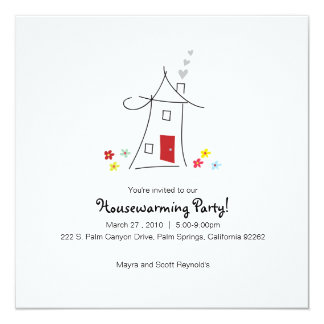Whimsical Housewarming Party 13 Cm X 13 Cm Square Invitation Card