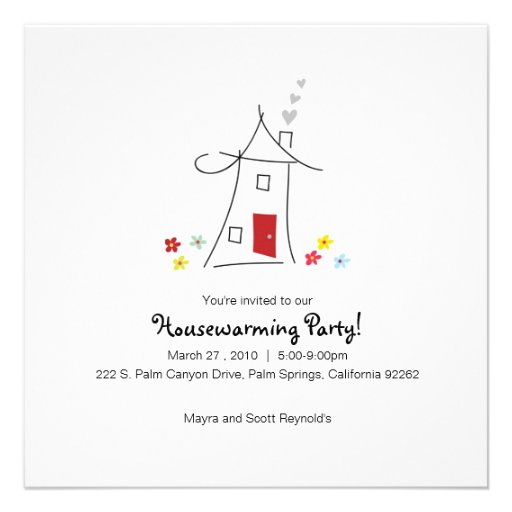 Whimsical Housewarming Party Custom Invitation