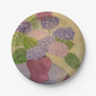 Whimsical Hydrangea 7 Inch Paper Plate