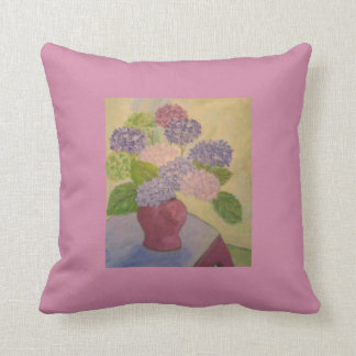 Whimsical Hydrangea Cushion