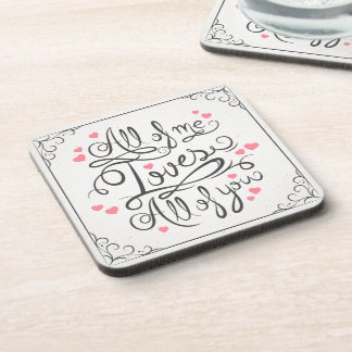 Whimsical Inspirational Love Quote | Coaster