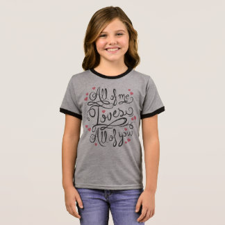 Whimsical Inspirational Love Quote | Ringer Shirt