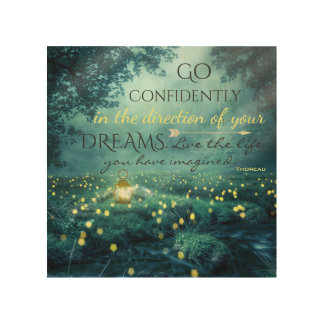 Whimsical Inspiring Dreams Quote Wood Wall Decor