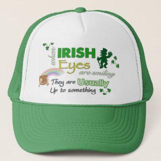 Whimsical Irish Eyes St Patricks Hat