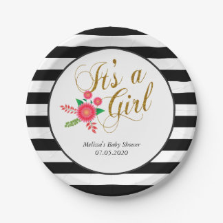 Whimsical - It's a Girl Paper Plate