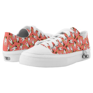 37d01c3177c whimsical Jack Russell Terriers pattern coral Low Tops