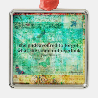 Whimsical JANE AUSTEN Pride and Prejudice QUOTE Christmas Ornament