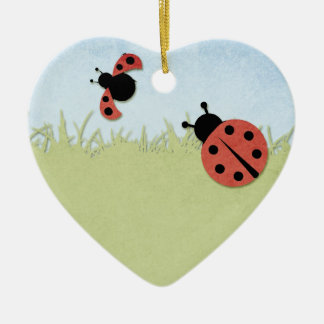 Whimsical Ladybugs Christmas Ornament