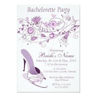 "Whimsical Lavender Bachelorette Party 1 5"" X 7"" Invitation Card"