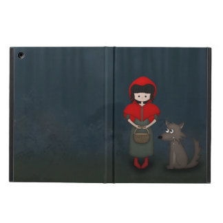 Whimsical Little Red Riding Hood Girl and Wolf Cover For iPad Air