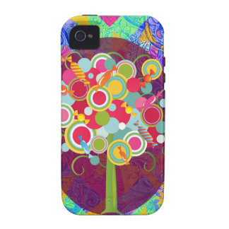 Whimsical Lollipop Candy Tree Colorful Abstract Un Case-Mate iPhone 4 Cover